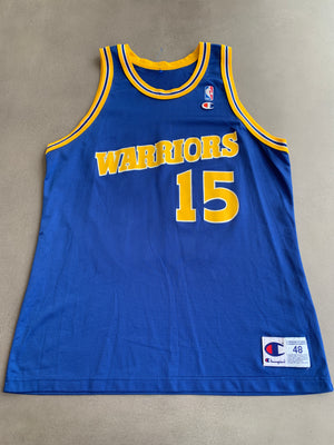 Latrell Sprewell Golden State Warriors Original Vintage 90's NBA Autographed Jersey