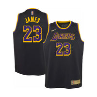 LeBron James Los Angeles Lakers Earned Edition Youth NBA Swingman Jersey