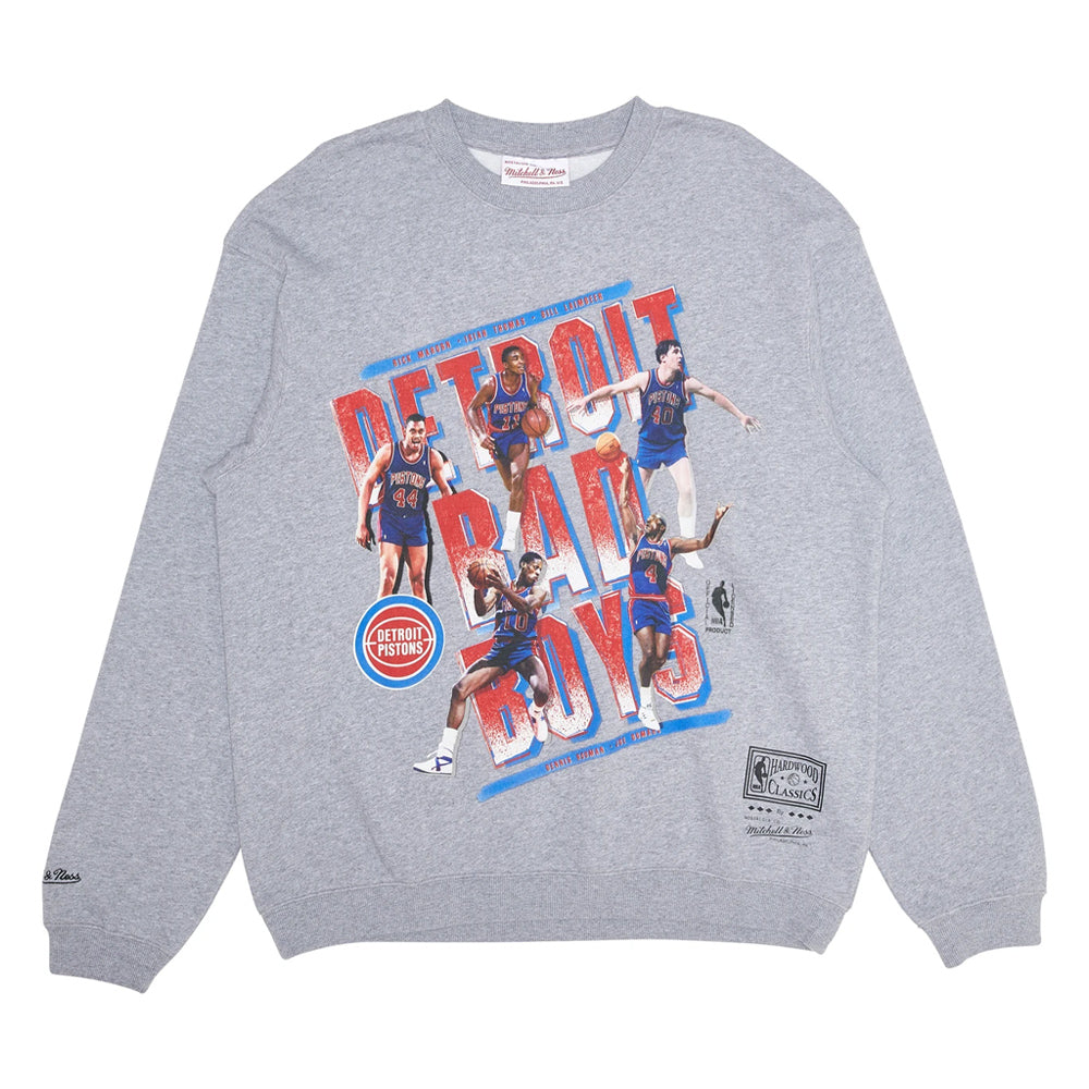 Detroit Pistons Vintage Bad Boys NBA Crew Neck Jumper