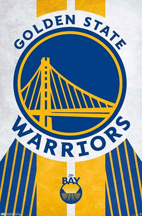 Golden State Warriors Team Logo NBA Wall Poster