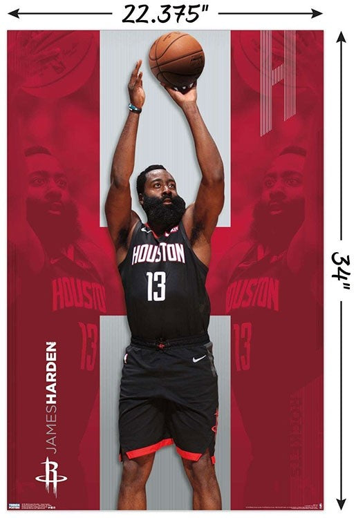 James Harden Houston Rockets NBA Wall Poster