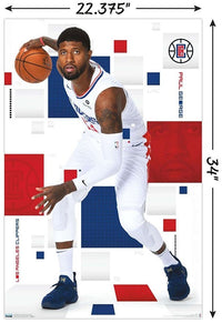 Paul George Los Angeles Clippers NBA Wall Poster