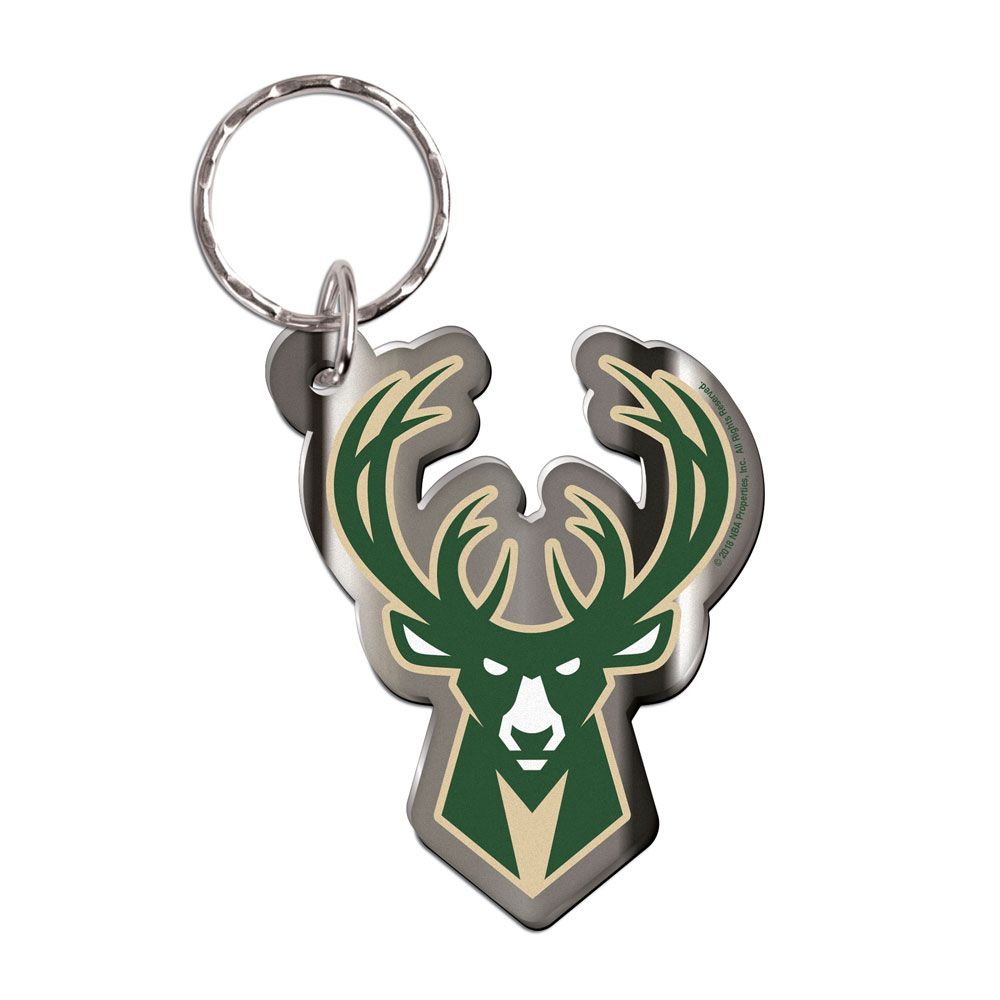 Milwaukee Bucks Premium Freeform Team Logo NBA Keyring