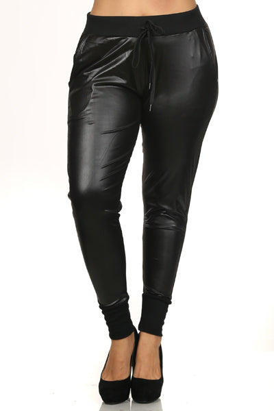 Urban Faux Leather Joggers