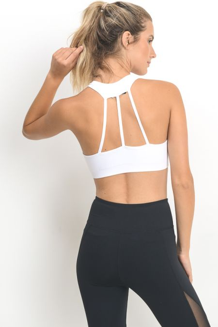 Triple Strap Back Seamless Sports Bra