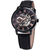 Black Goldtone Mechanical Watch