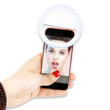 Luxury LED Flash Light Up Selfie Ring For iPhone & Samsung