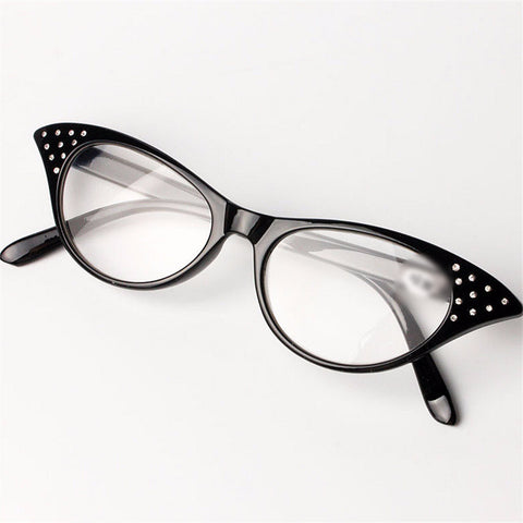 Cat Eye Slim Reading Glasses 1.5 2.0 2.5 3.0 3.5  With Spring Hinges