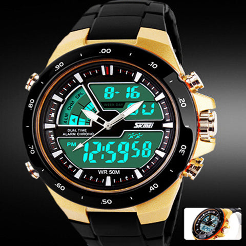 Sports Watch Waterproof Quartz Digital