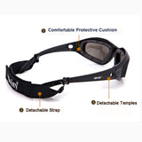 Polarized  Sunglasses 4 Lens Kit, Tactical Glasses Sporting