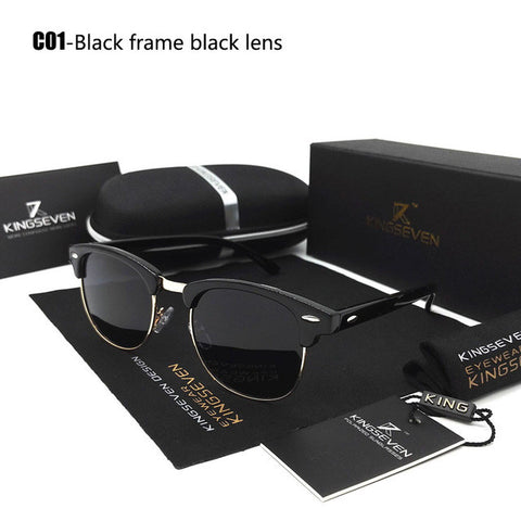 Polarized Sunglasses Retro Rivet High Quality Polaroid Lens