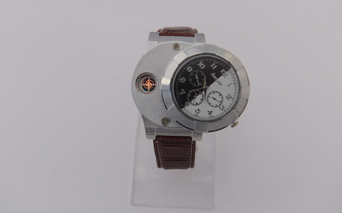 Electronic Rechargeable USB Lighter Watch