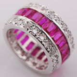 Multicolor Crystal Zircon 925 Sterling Silver Ring