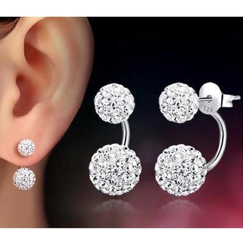 Stainless Steel Stud Earrings Ball Pearl Ear Stud