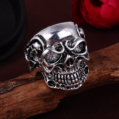 Men's Gothic Vintage Zinc Alloy Skull Rings