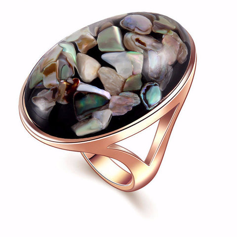 Oval Shaped Sea Shell Ring