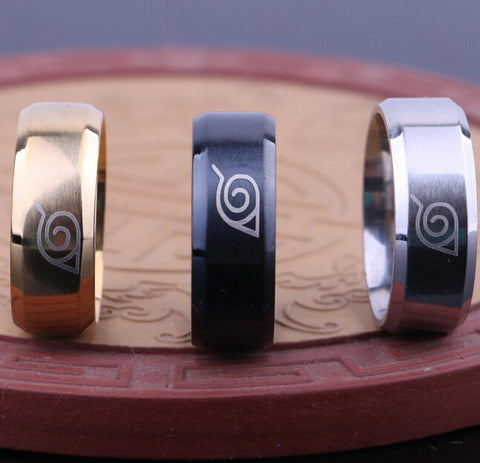 Anti Allergy  Stainless Steel Classic Naruto Ring