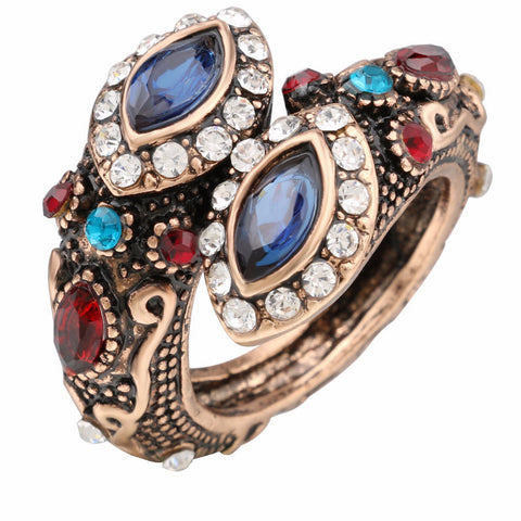 Unique Crystal Ring  Ancient Vintage Look