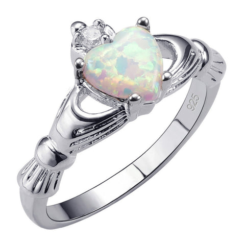 Exquisite White Fire Opal 925 Sterling Silver Ring