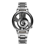 Luxury Music Note Notation Watch Stainless Steel