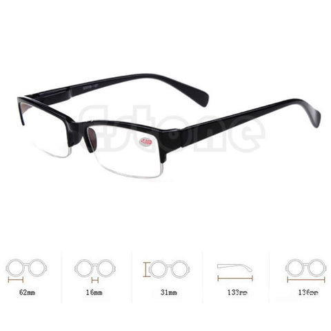 Semi-rimless Eyeglass Myopia Reading Glasses -1 -1.5 -2 -2.5 -3 -3.5 -4