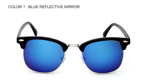 Classic Retro Designer Reflective Mirror Sunglasses