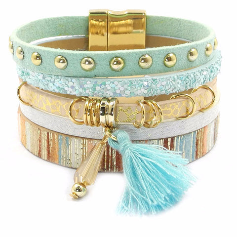 Bohemian Styled leather bracelet