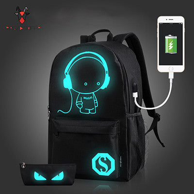 Backpack Luminous Animation w/ USB Charge