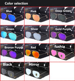 Glass lens Sunglasses vintage aviation style shades Top quality