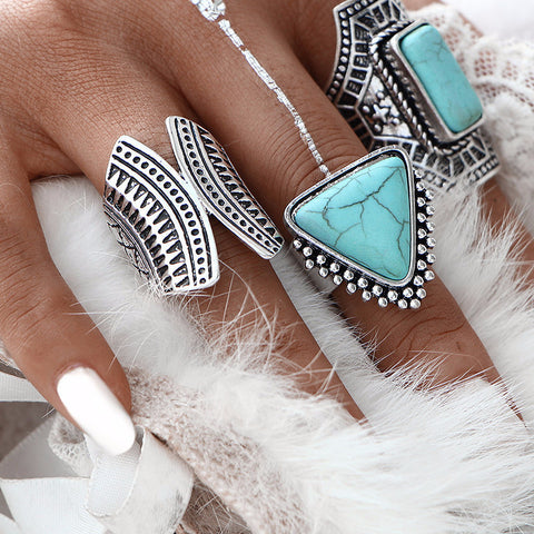 3pcs/Set  Boho Vintage Silver Ring