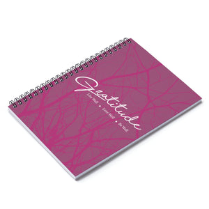Gratitude Spiral Notebook - Ruled Line - Burgundy