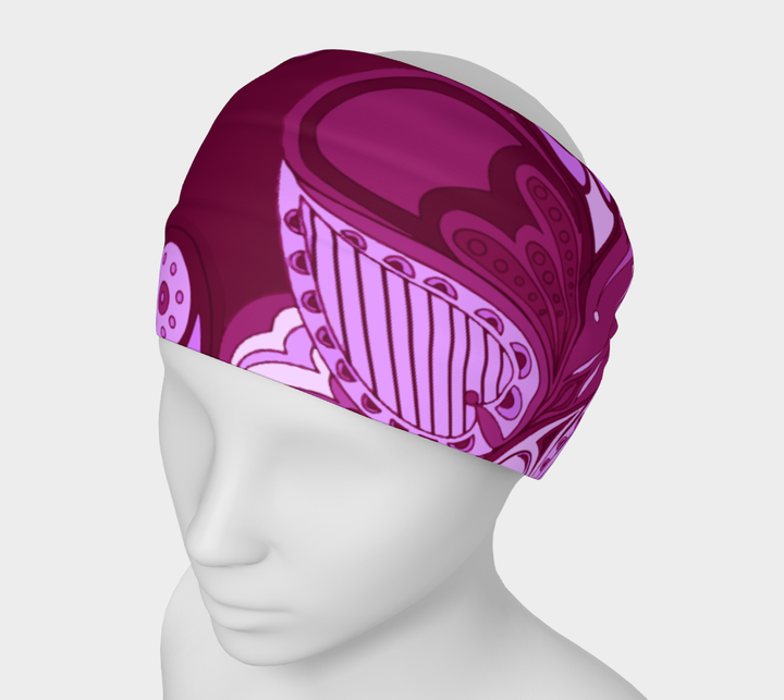 Everyday Headband - Paisley Merlot