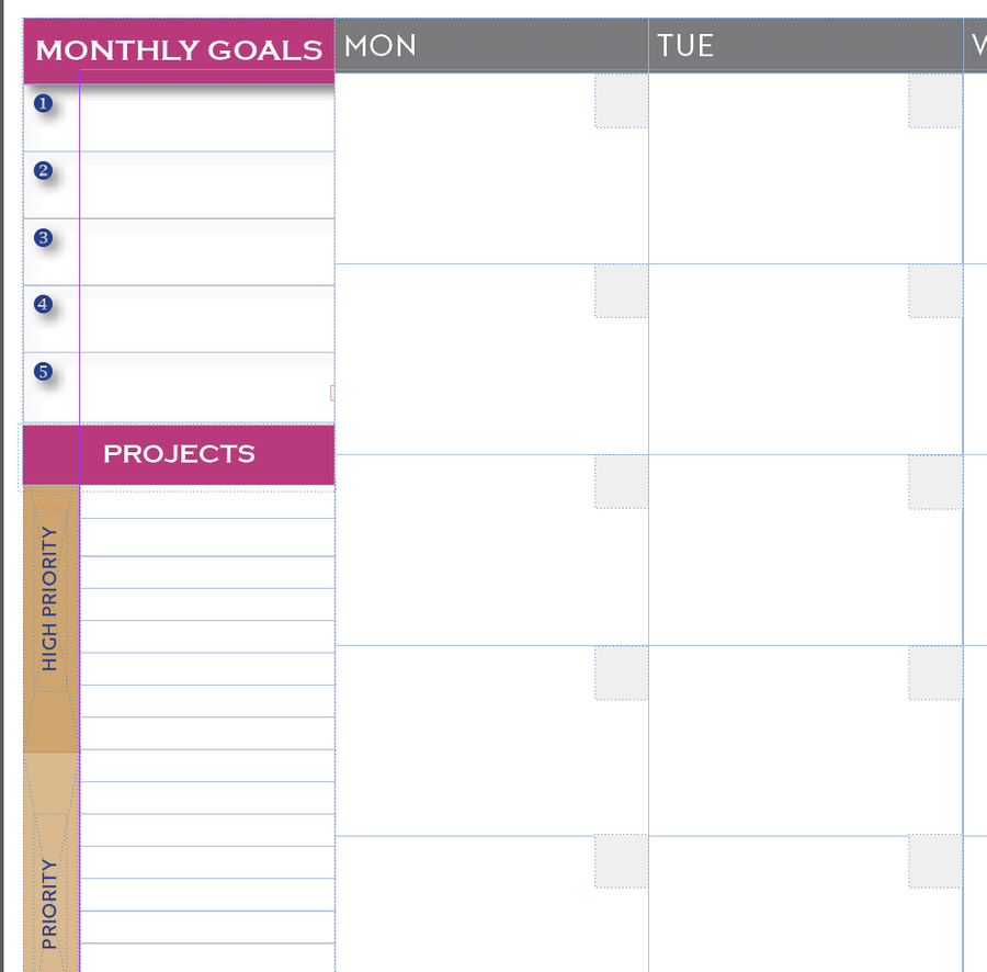Undated Planner Journal Downloadable