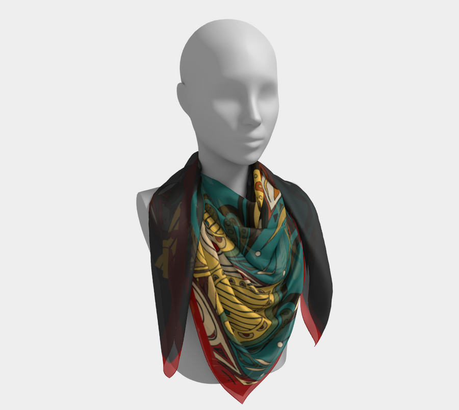 On the Go Scarf - Peacock Gold
