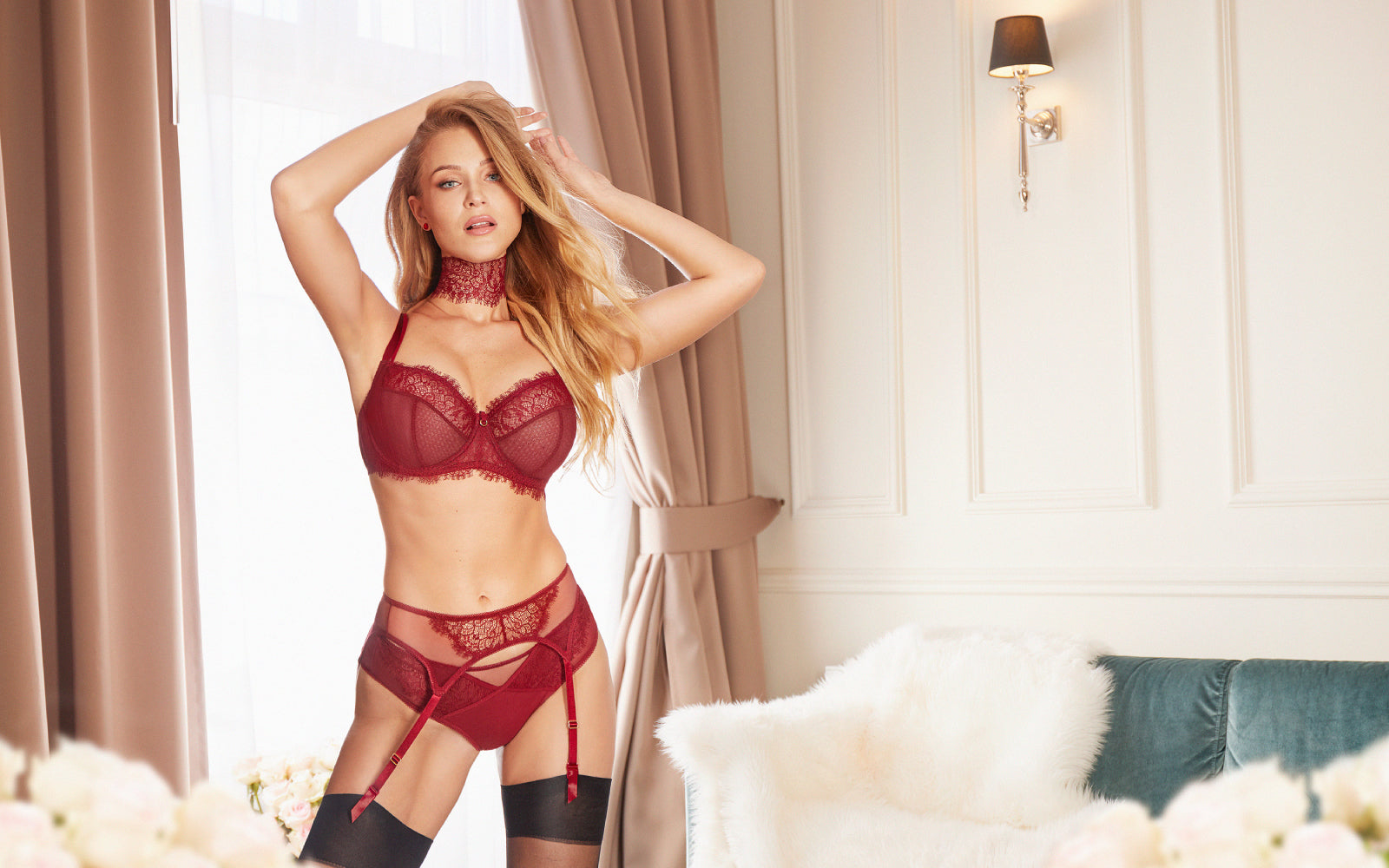 Cherry Bordo Lingerie by Kinga