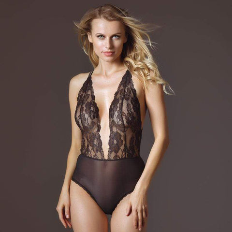Sexy Sheer Lace Teddy Lavinia Lingerie Black Intimates