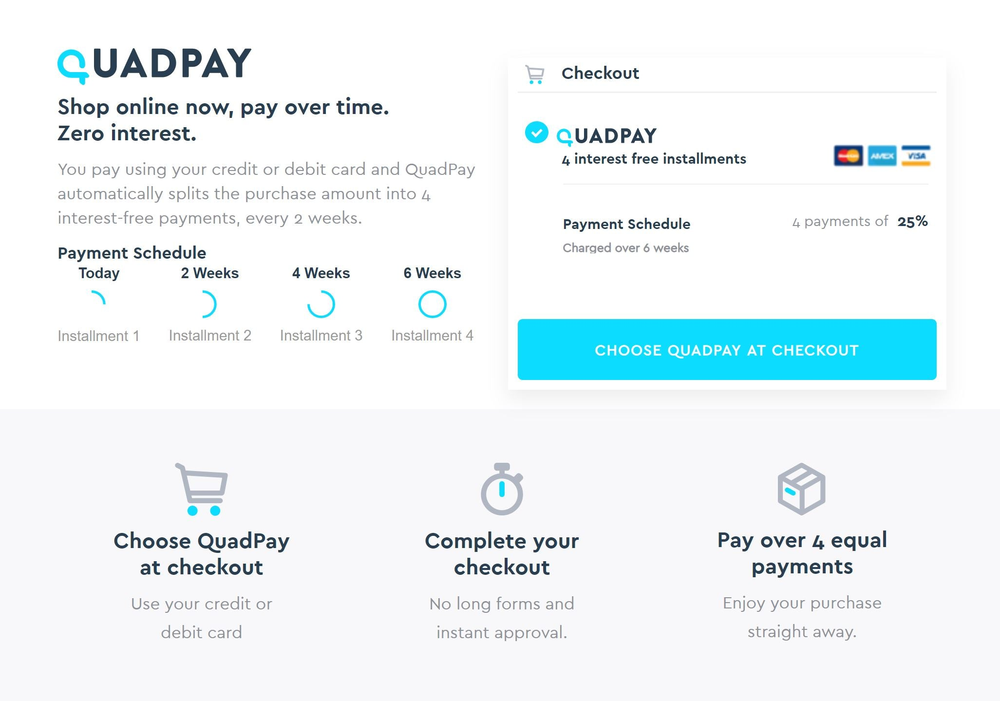 Shop Now, Pay Later! QuadPay