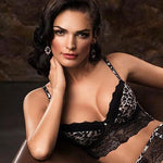 ANIMAL PRINT LONG LINE PUSH UP BRA LAUMA LINGERIE WILD PASSION