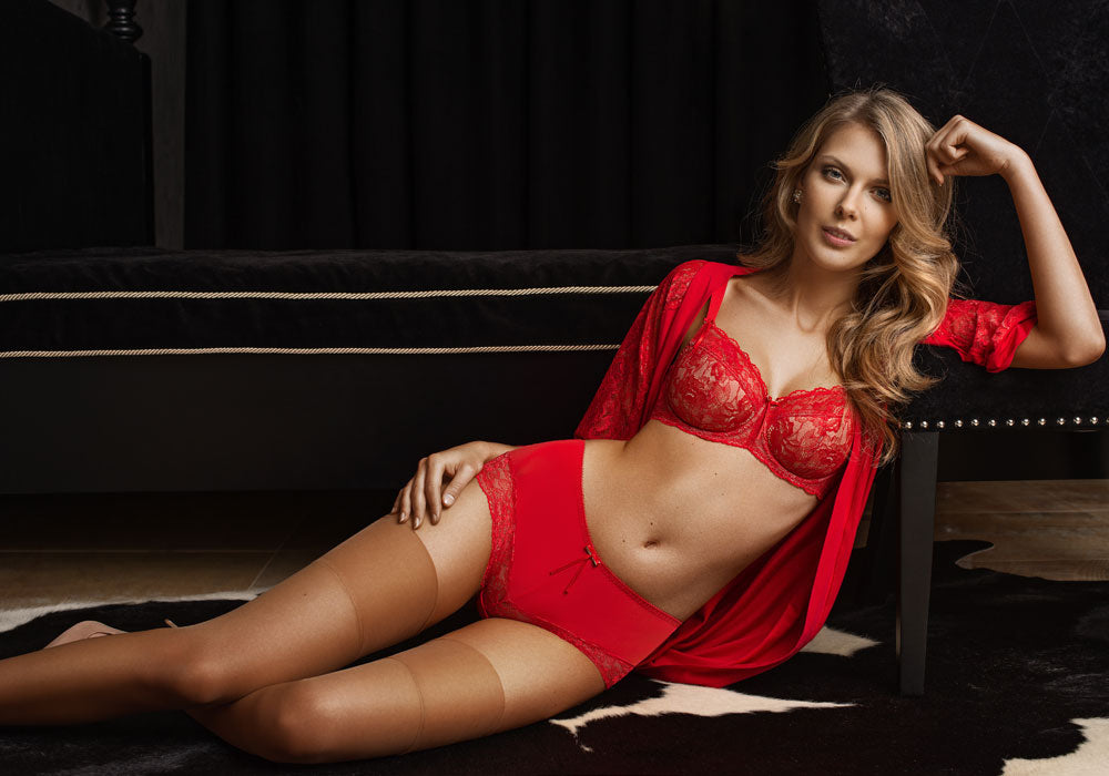 National Wear Red Day Sexy Red Lingerie