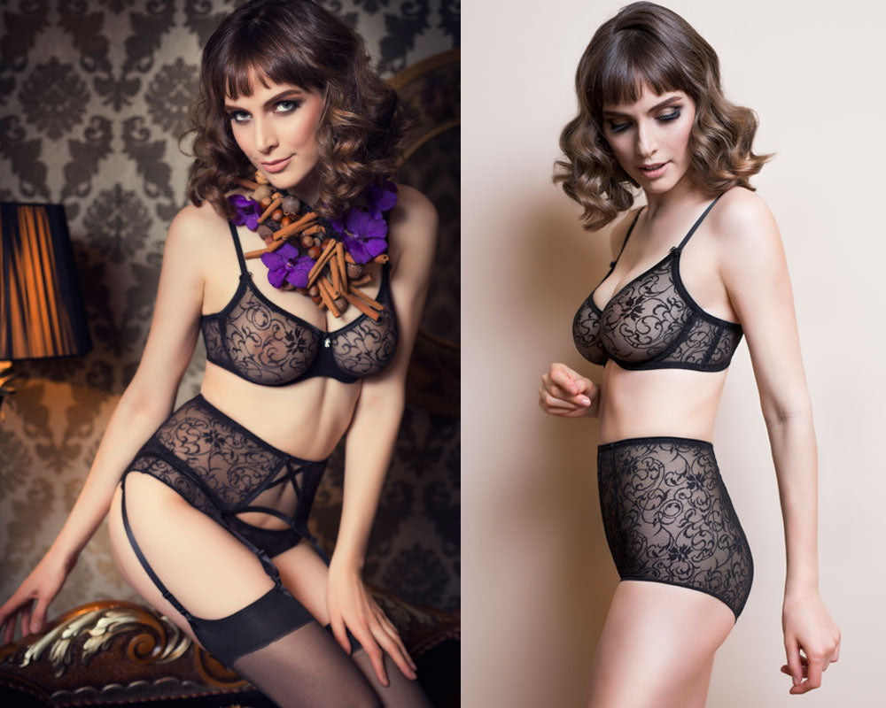5f882eed7 Always a Bit More Special - Sheer Lace Garter Belt.