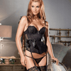 LACE UNDERWIRE BASQUE/REMOVABLE GARTERS BE WICKED (BW1371)