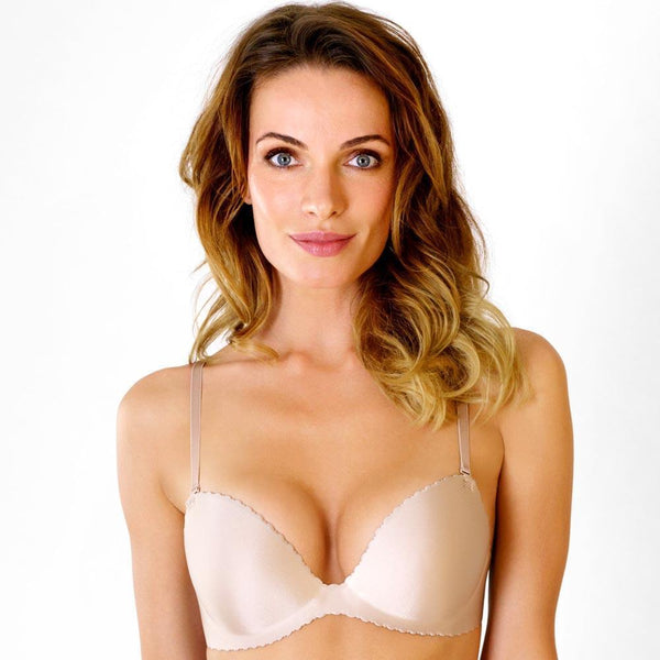 Collection Seamless Soft Rosme Womens Padded Bra With Detachable Straps