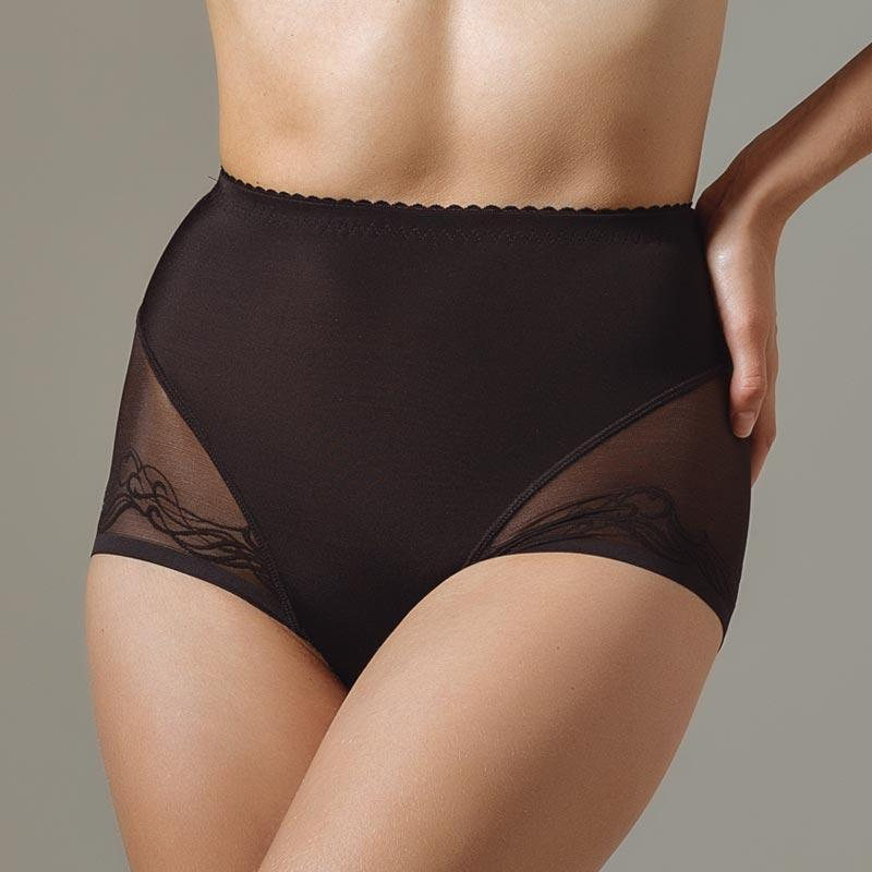 Semi Sheer High Waist Brief Panty Lavinia Mia Lavinia Lingerie High Waist Panty
