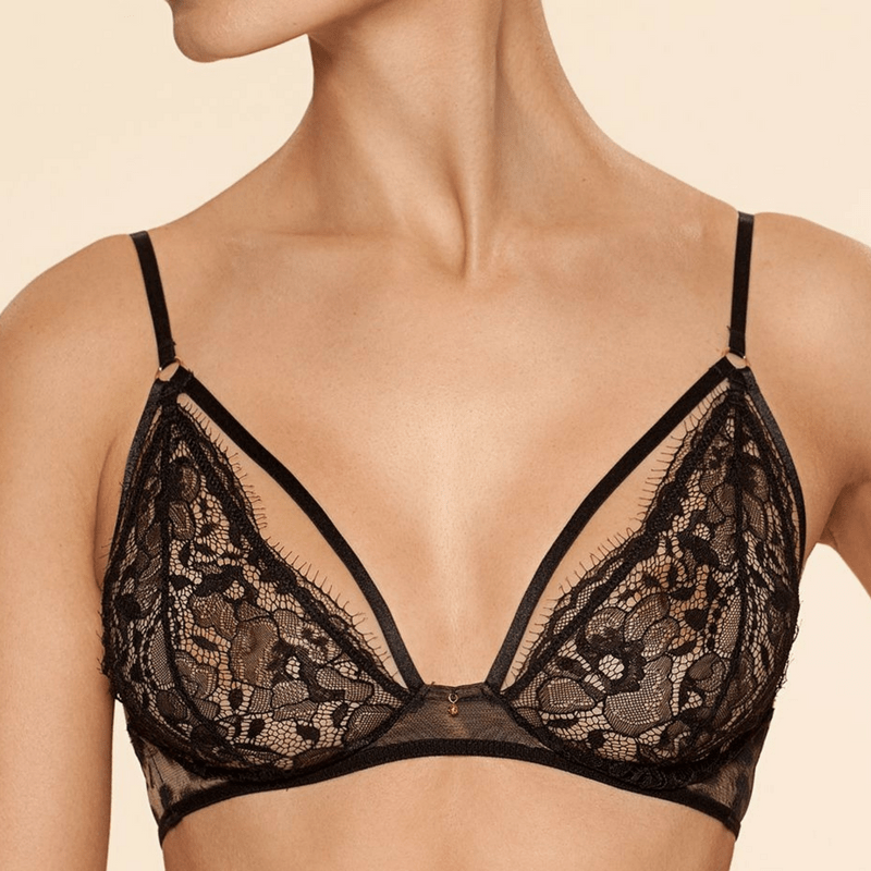 Sexy Sheer Trangle Bra Ajour Burlesca Ajour Lingerie Triangle Bra