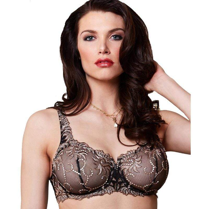 Sheer Mesh Embroidered Demi Bra Lunaire Sevilla Lunaire Lingerie Full Figure Bra