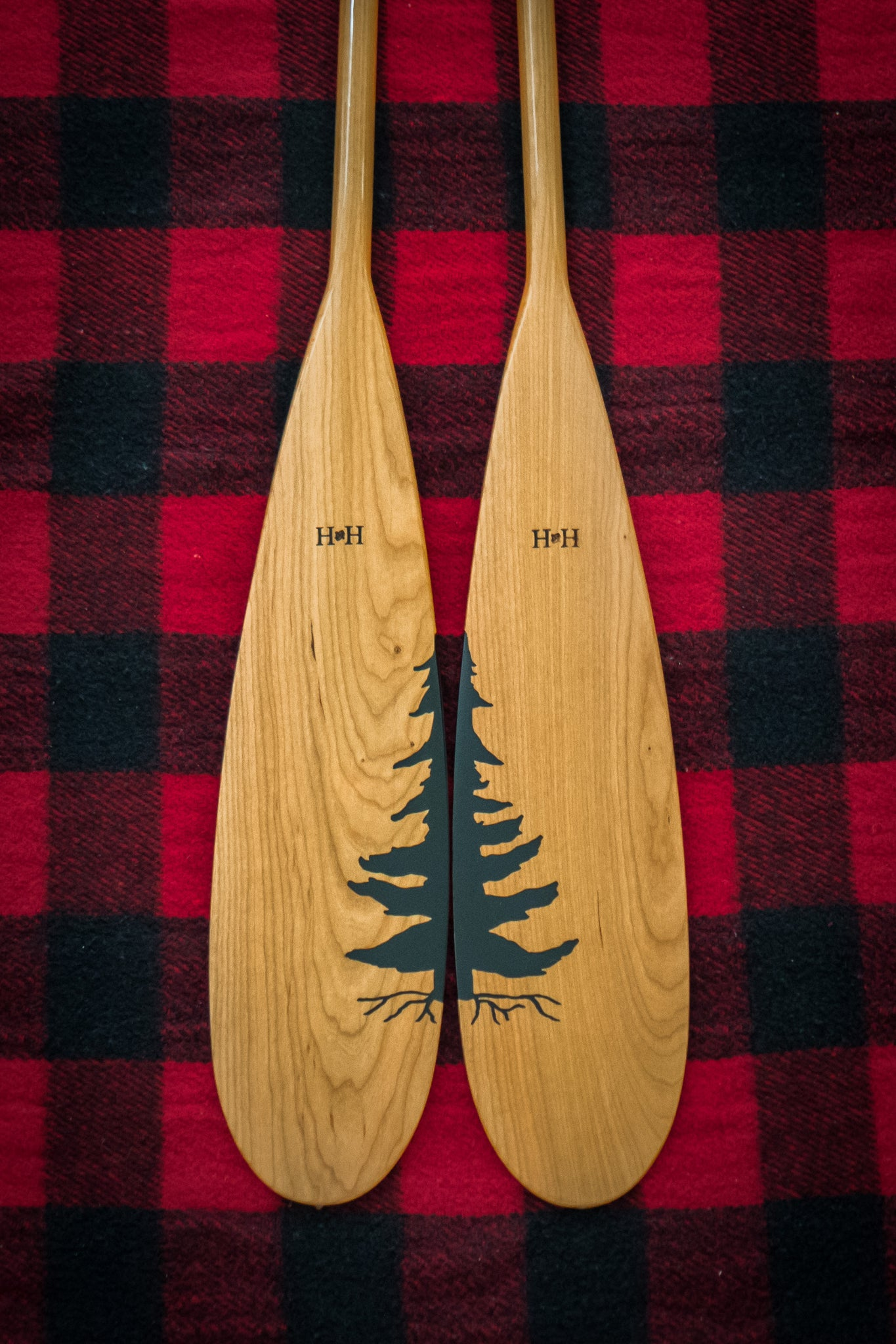 "A special ""couple"" of custom paddles"