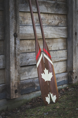 Custom Walnut Paddle - Painted Ottertail Canada 150- Side