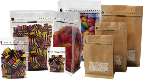 Resealable Flat Bottom Bags with Zipper