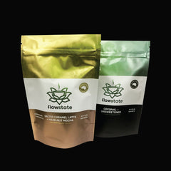 custom digital print packaging stand up pouch with zipper closure made in melbourne australia health food powder coffee bag