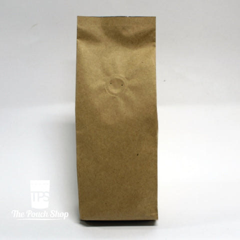 250G Side Gusset Coffee Bag- Kraft Paper With Valve Bag